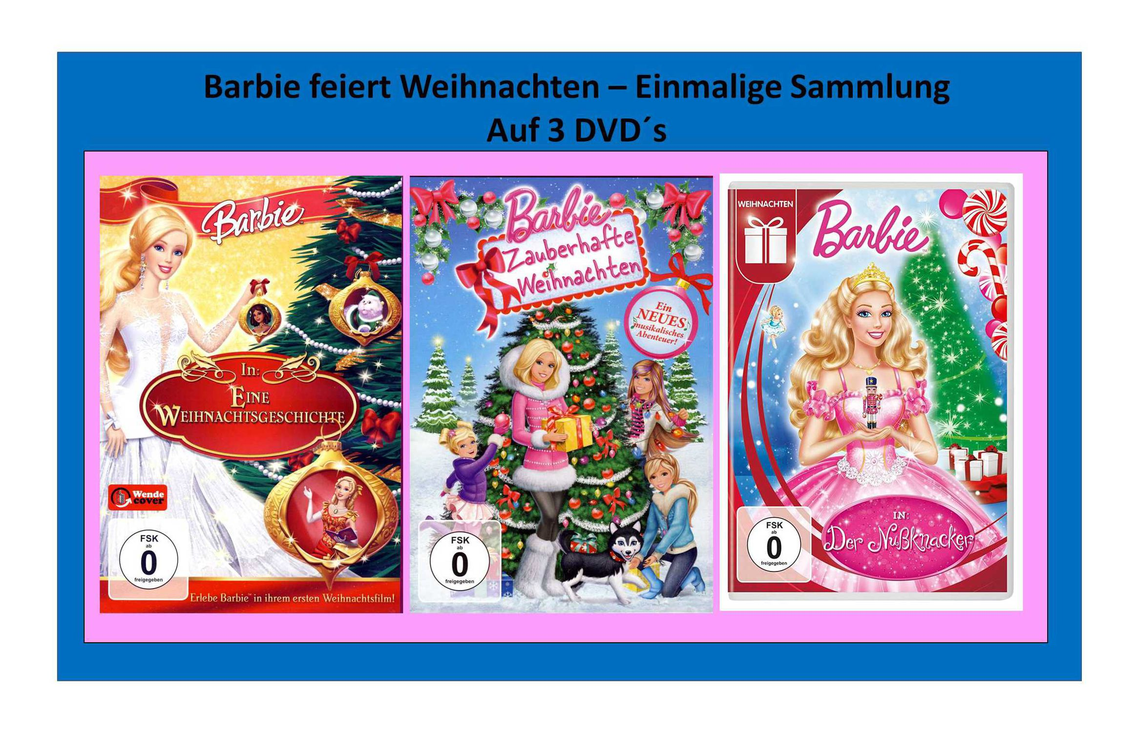 barbie feiert weihnachten 3 barbie filme zu. Black Bedroom Furniture Sets. Home Design Ideas