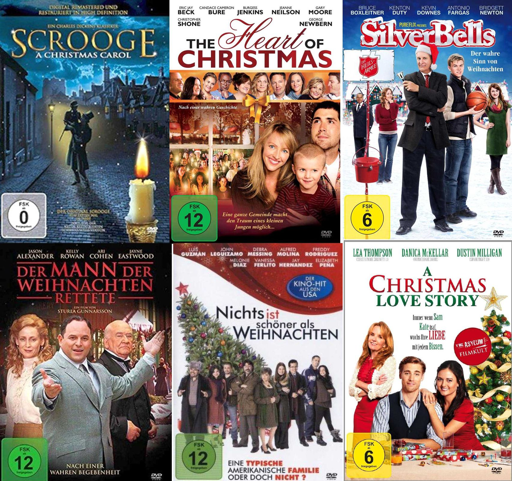 die bewegendste weihnachtsfilme box collection fsk12 6 dvds neu ovp ebay. Black Bedroom Furniture Sets. Home Design Ideas